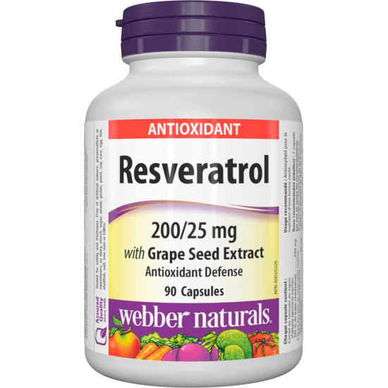 Ресвератрол с гроздово семе 225 mg х 90 капсули
