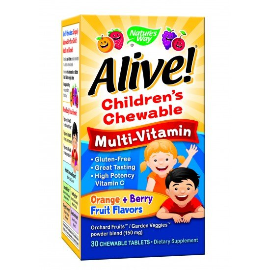 Алайв мултивитамини за деца х 30 дъвчащи таблетки