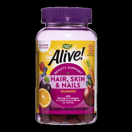 Алайв коса, кожа и нокти премиум формула 546 mg х 60 софтгел капсули