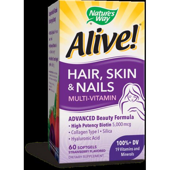 Алайв коса, кожа и нокти 1040 mg х 60 софтгел капсули