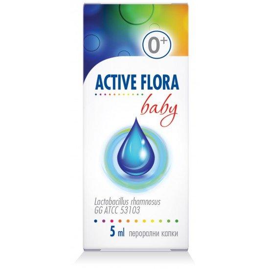 Актив флора бейби перорални капки х 5 ml