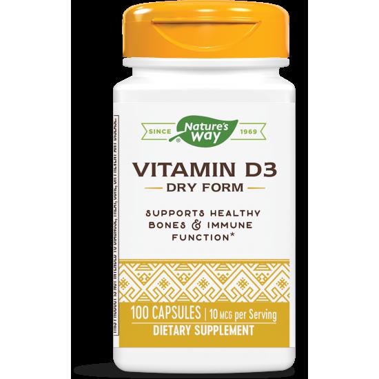 Витамин D3 (сух) 400 IU х 100 капсули
