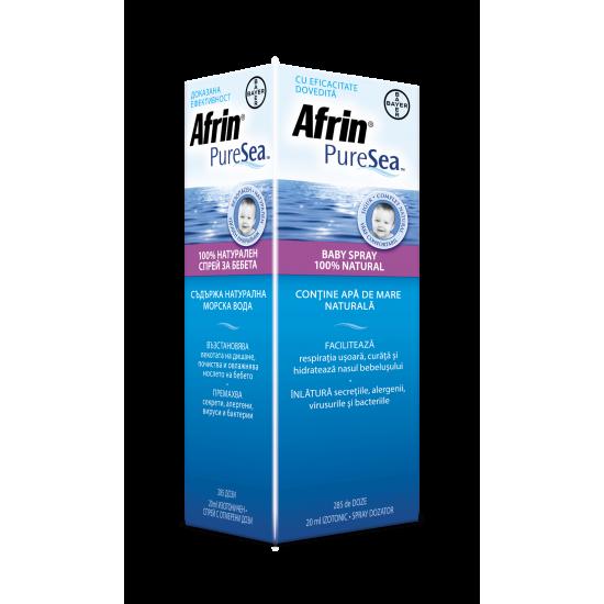 Afrin® Puresea™ Бебе 100% Натурален изотоничен разтвор на морска вода за бебета и деца