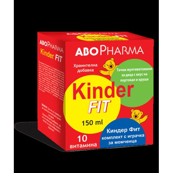 Киндер фит за момчета - течни мултивитамини за деца с вкус на портокал и круша х 150 ml