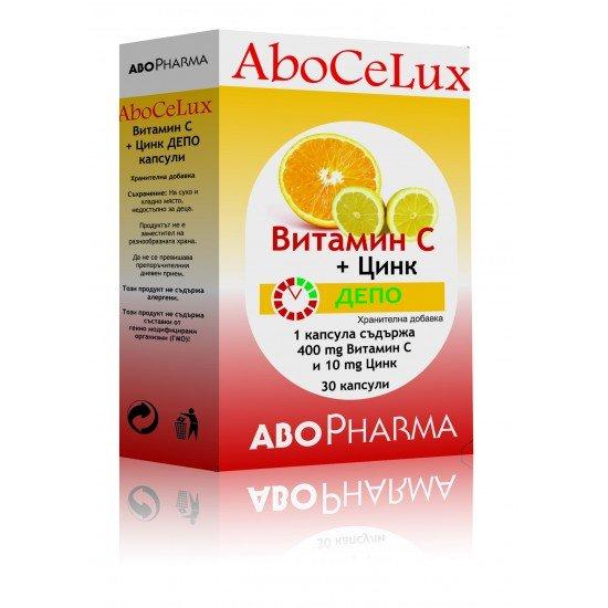Витамин C депо 400 mg + Цинк 10 mg х 30 капсули