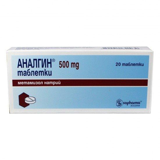 АНАЛГИН таблетки 500 мг * 20 СОФАРМА