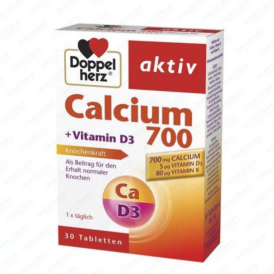 Допелхерц актив Калций + Витамин D3 и Витамин K х 30 таблетки