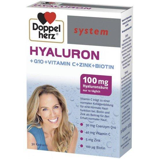Допелхерц систем хиалурон х 30 капсули