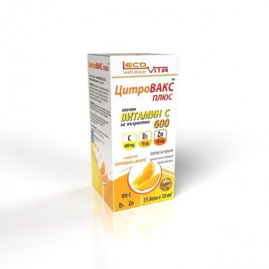 Лековита цитровакс плюс Витамин C 600 mg сироп х 150 ml
