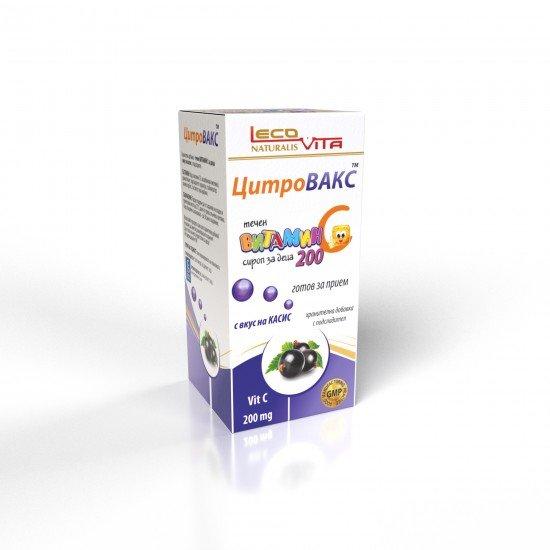Лековита цитровакс течен Витамин C 200 mg сироп за деца х 150 ml