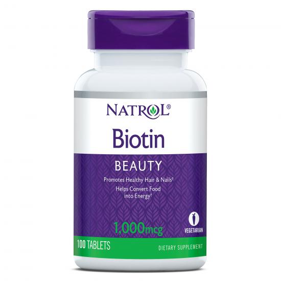 Натрол Биотин 1000 mcg х 100 таблетки