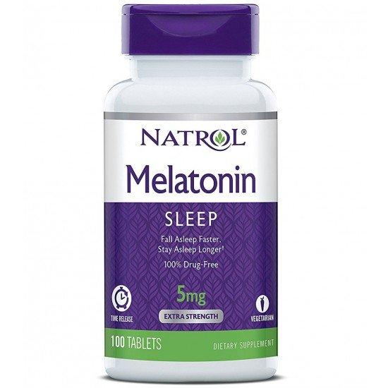 Натрол мелатонин TR 5 mg х 100 таблетки
