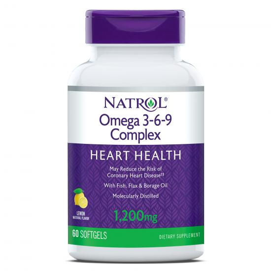 Натрол Омега 3-6-9 комплекс 1200 mg х 90 капсули