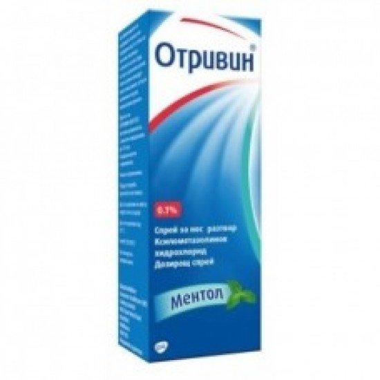 Отривин ментол спрей 0.1% х 10 ml