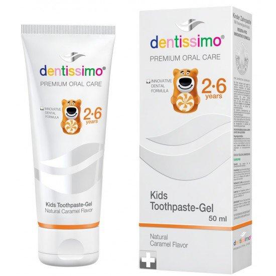 Паста за зъби дентисимо кидс 2-6 г с карамел х 50 ml
