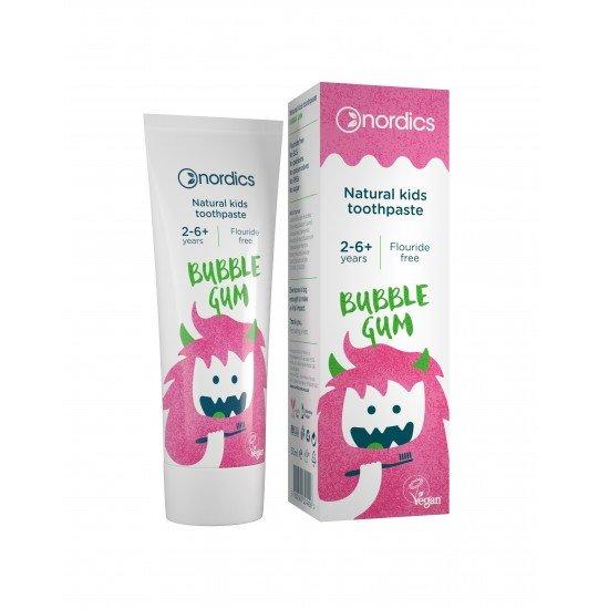 ПАСТА ЗА ЗЪБИ за деца с вкус на дъвка  2-6+ г. Nordics