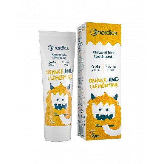 Паста за зъби за деца от 0 до 4 годишна възраст с вкус на портокал и мандарина х 50 ml